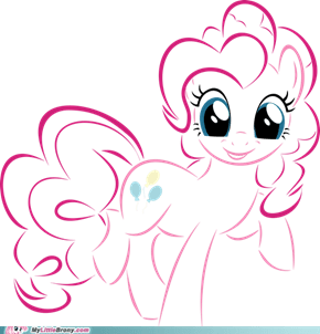 Pinkie Pie (vector drawing)