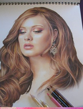 Adele In Colored Pencil - Amazing