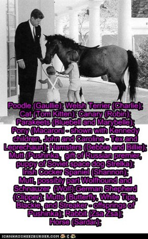 Pets of the US Presidents - John F. Kennedy