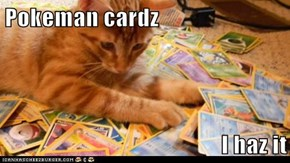 Pokeman cardz  I haz it