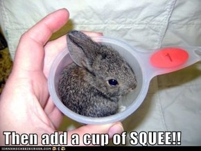 Then add a cup of SQUEE!!