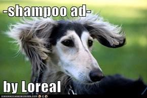 -shampoo ad-  by Loreal