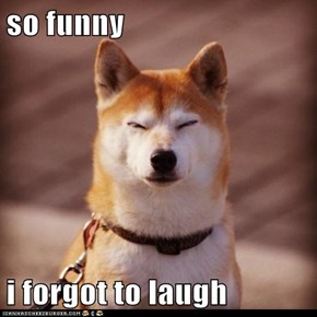 so funny  i forgot to laugh