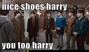 nice shoes harry  you too harry