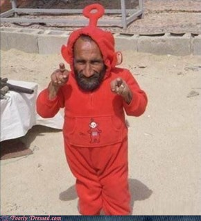 Somehow, I Don't Think He Was On The Original Cast Of The Teletubbies
