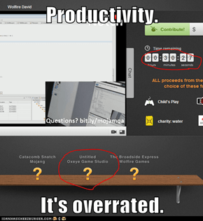 Productivity.  It's overrated.