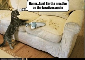 Damn...Aunt Bertha must be on the laxatives again