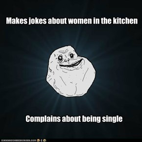 Makes jokes about women in the kitchen