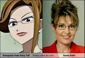 Evergreen from Fairy Tail Totally Looks Like Sarah Palin