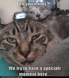 Do you mindz?!  We try to have a specialz moment here...