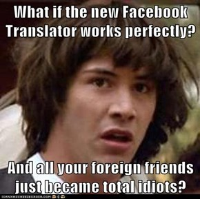 What if the new Facebook Translator works perfectly?   And all your foreign friends just became total idiots?