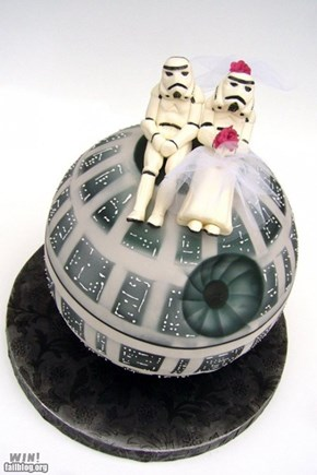 Death Star Wedding Cake WIN