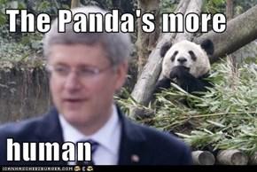 The Panda's more   human