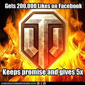 Gets 200,000 Likes on Facebook