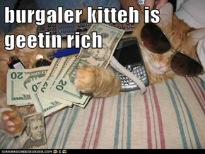 burgaler kitteh is geetin rich