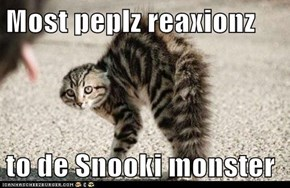 Most peplz reaxionz  to de Snooki monster