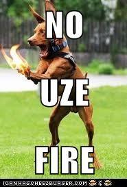 NO UZE FIRE