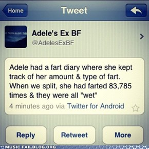 Adele's Ex Is Considerably Less Eloquent Than Adele
