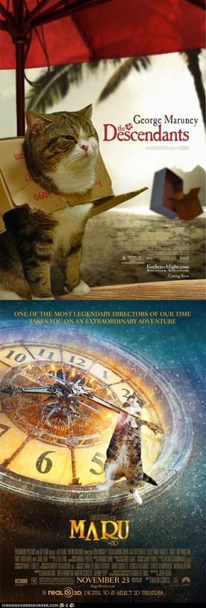 "Maru at The Oscars: ""The Descendants"" and ""Hugo"""