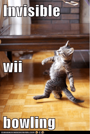 Invisible wii bowling