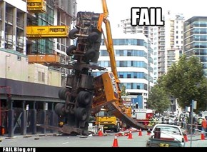 Building goes up. Crane goes down.