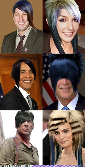 If Famous People Had Emo Hair