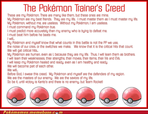 The Pokémon Trainer's Creed