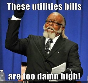 These utilities bills  are too damn high!