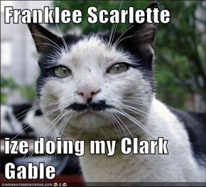 Franklee Scarlette  ize doing my Clark Gable