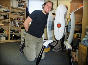 Life-Size DIY Portal Turret of the Day