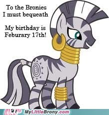 To the Bronies I must bequeath