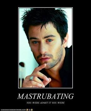 MASTRUBATING