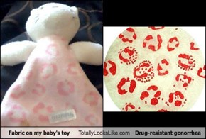 Fabric on My Baby's Toy Totally Looks Like Drug-Resistant Gonorrhea