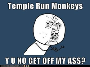 Temple Run Monkeys  Y U NO GET OFF MY ASS?