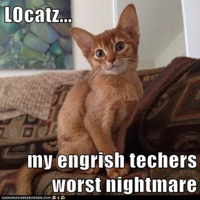 LOcatz...  my engrish techers worst nightmare