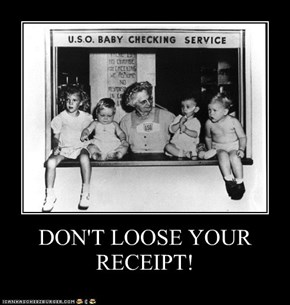 DON'T LOOSE YOURRECEIPT!