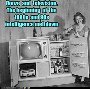 Booze  and  television.  The beginning  of  the  1980s  and 90s intelligence meltdown