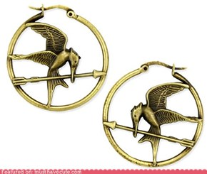 Hunger Games Hoop Earrings
