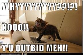WHYYYYYYYYY??!?! NOOO!! Y U OUTBID MEH!!