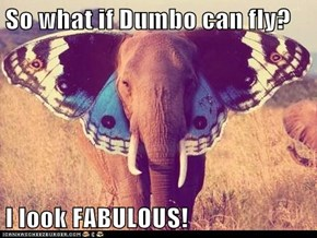 So what if Dumbo can fly?  I look FABULOUS!
