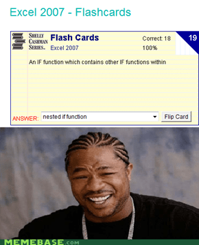 Yo dawg, i herd you like IF functions