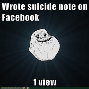 Wrote suicide note on Facebook  1 view