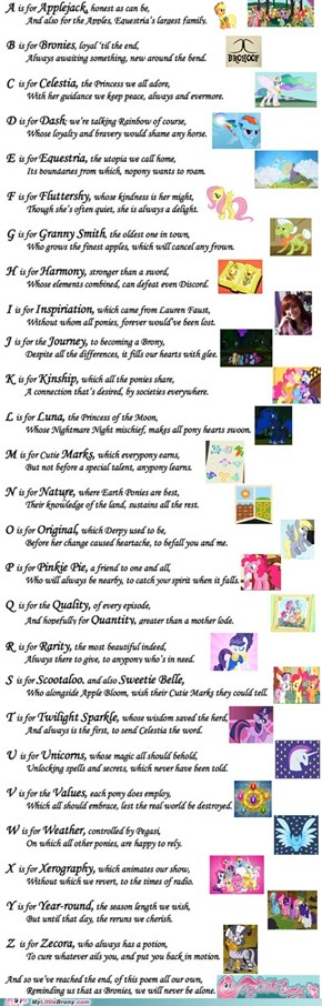 A Brony A-to-Z Poem