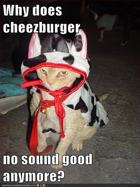 Why does cheezburger  no sound good anymore?
