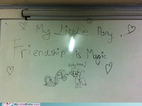 What happens to my college teacher's whiteboard when he leaves the room