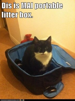 Dis is MAI portable litter box.