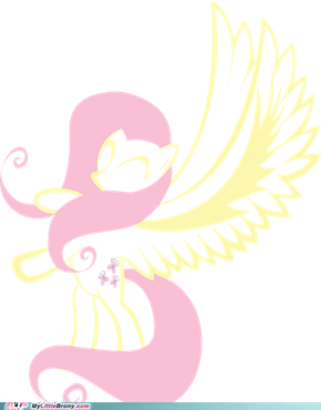 Fluttershy (vector drawing 3)