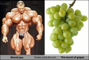 Steroid Guy Totally Looks Like This Bunch of Grapes