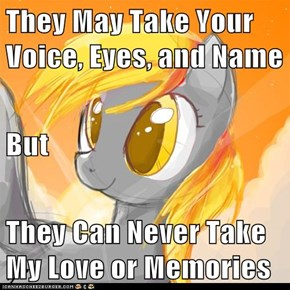 They May Take Your Voice, Eyes, and Name But They Can Never Take My Love or Memories