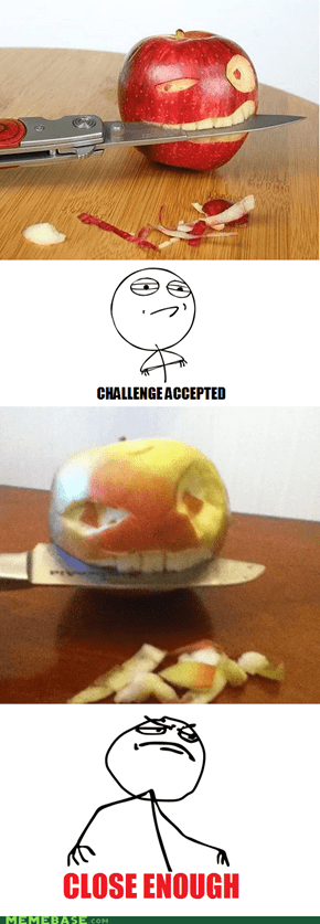 E for Effort! A for Apple!